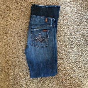Size 28. 7 for all mankind jeans.